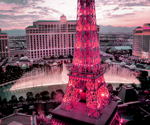 pink, paris, and Las Vegas image