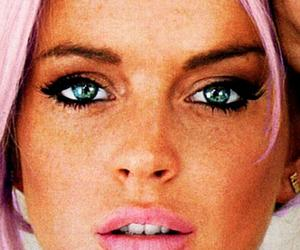 lindsay lohan, eyes, and blonde image