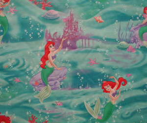 disney princess, fish, and mermaid image