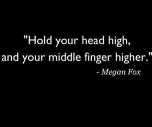 quote, megan fox, and head image