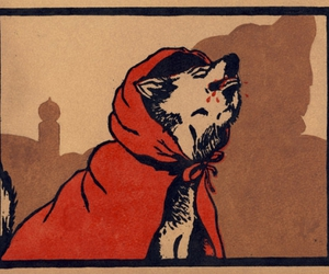 art, wolf, and blood image