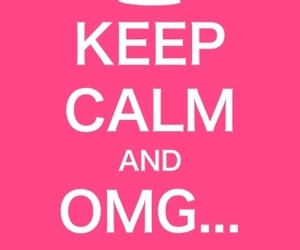 keep calm, pink, and quote image