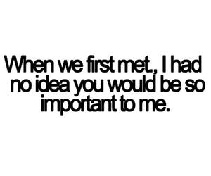 fall in love, text, and first met image