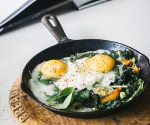 breakfast, leek, and eggs image