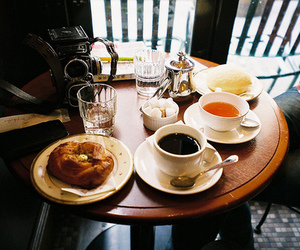 food, tea, and breakfast image