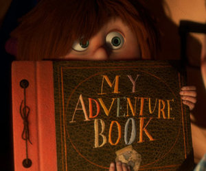 up, adventure, and book image