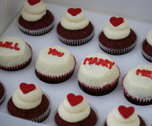 love, cupcake, and heart image