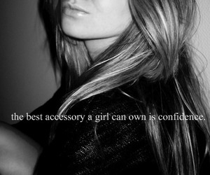girl, confidence, and quote image