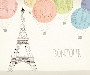 paris, hello, and eiffel tower image