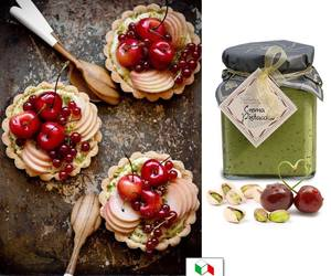 cakes, cream, and cherries image