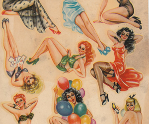 vintage, Pin Up, and pinup image