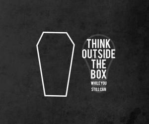 black, box, and think image