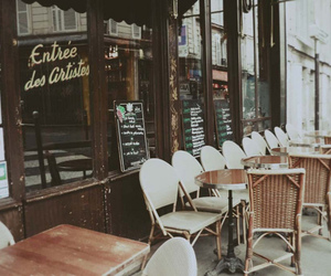 vintage, cafe, and chair image