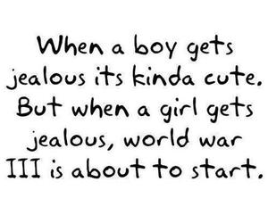 boy, girl, and jealous image