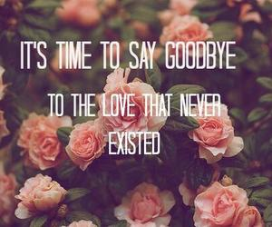 love, flowers, and goodbye image