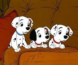 dog, disney, and dalmatian image