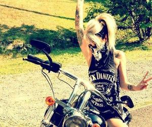 girl, jack daniels, and tattoo image
