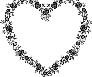flowers, heart, and transparent image