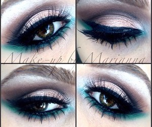 beutiful, blue, and eyebrows image