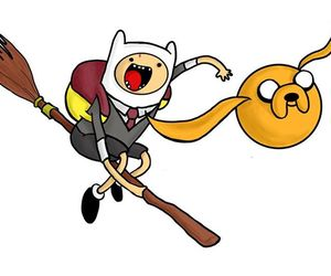 harry potter, adventure time, and JAKe image