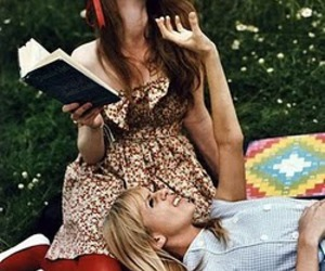 amigas, reading, and friends image