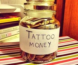 tattoo, money, and black and white image