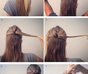 braids, hairstyle, and cute hairstyle image