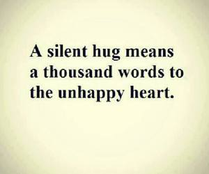 hug, unhappy, and quote image