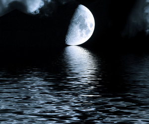 dark, Darkness, and moon image