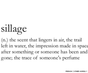 quote, sillage, and perfume image