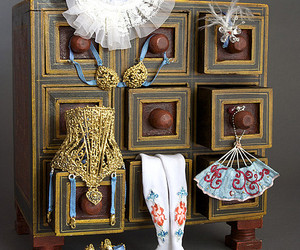 accessory, dresser, and gold image