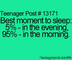 teenager post, morning, and sleep image
