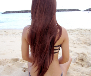beach, hair, and popular image
