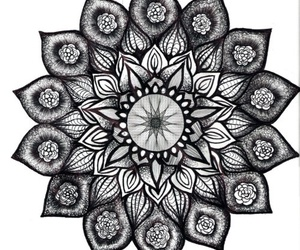 mandala, flowers, and art image
