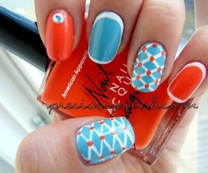 art, nail polish, and pretty image