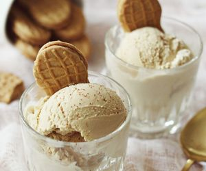 food, ice cream, and peanut butter image