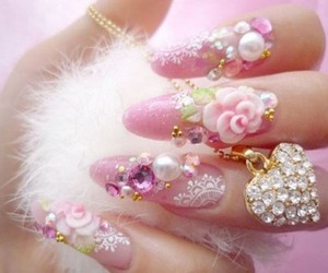 girly, heart, and puffy image