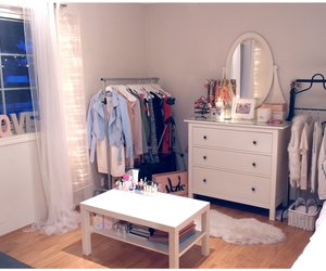 room, white, and girl image