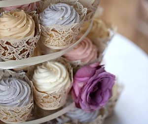 cupcakes, pretty, and lace image