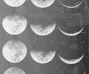 black&white and moon image