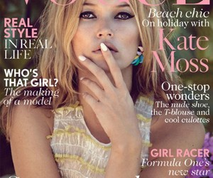 vogue, kate moss, and model image