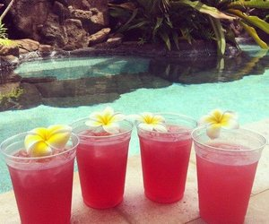drink, summer, and flowers image