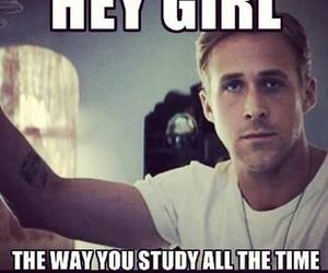 study, sexy, and ryan gosling image