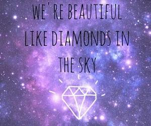 diamond, galaxy, and sky image
