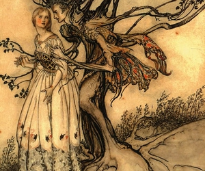 art, arthur rackham, and tree image