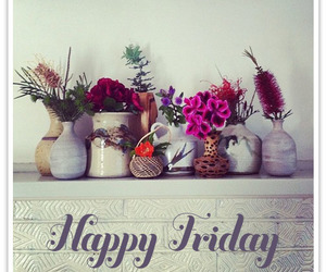drink, flowers, and friday image