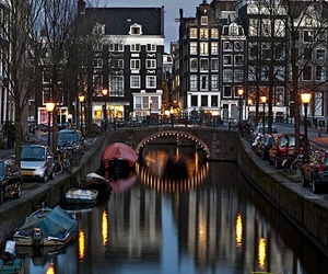 amsterdam, city, and boat image