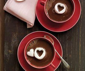 heart, chocolate, and coffee image