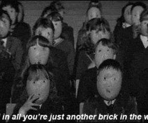 Pink Floyd, b&w, and quote image