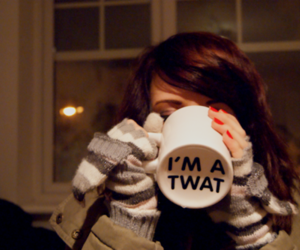coffee, cup, and girl image